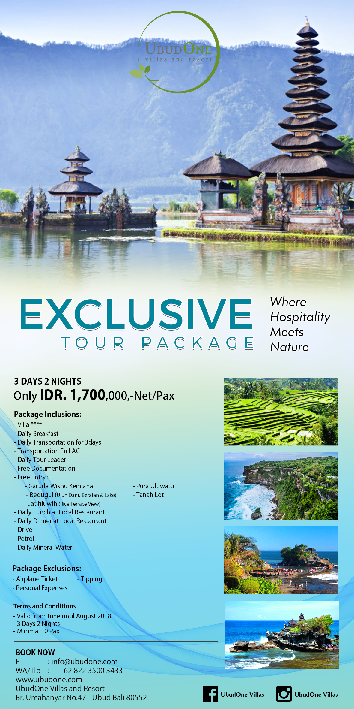 EXCLUSIVE TOUR PACKAGE
