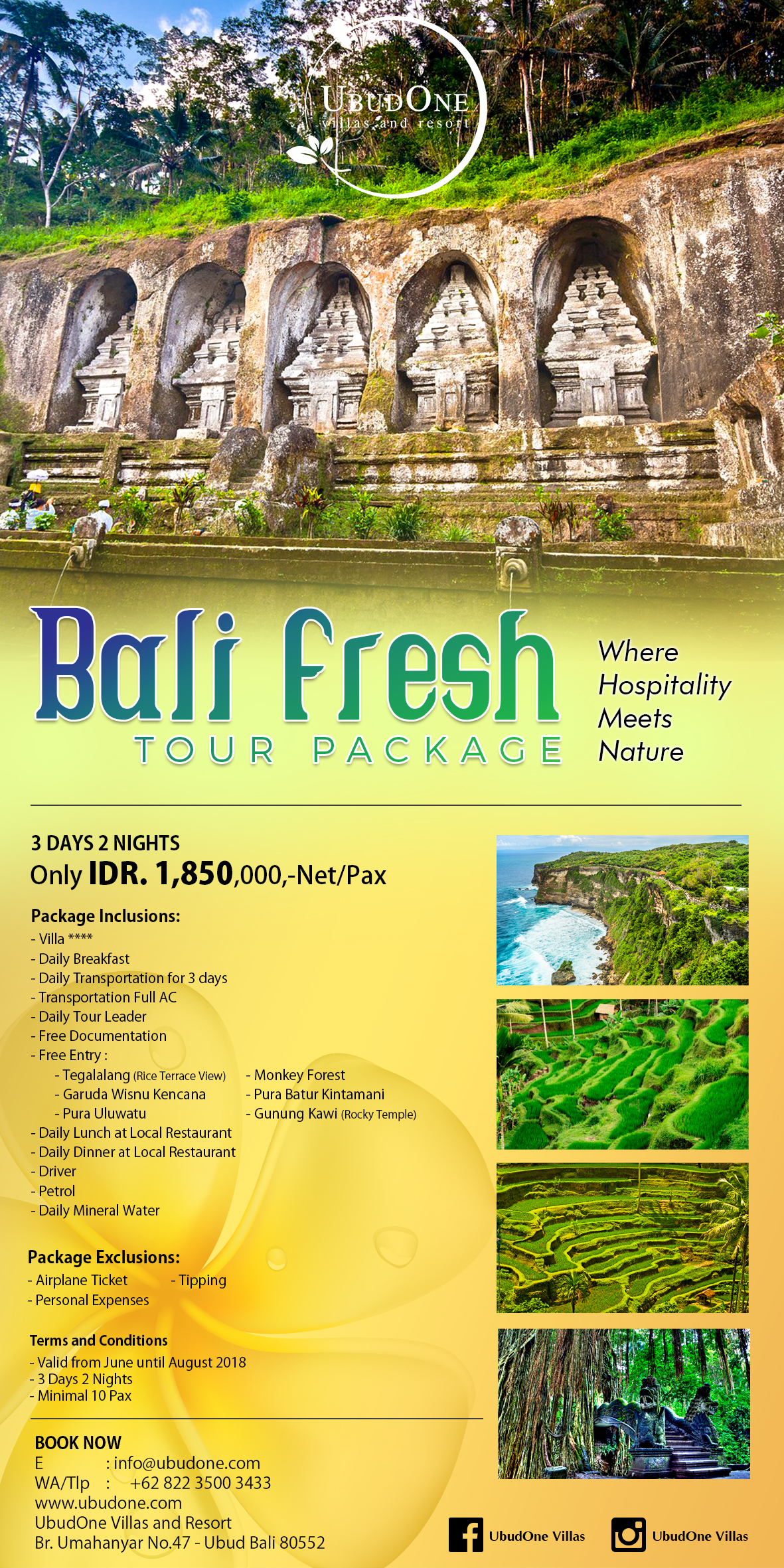 BALI FRESH TOUR PACKAGE